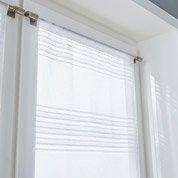 Paire de vitrages Diana, blanc, l.58 x H.120 cm