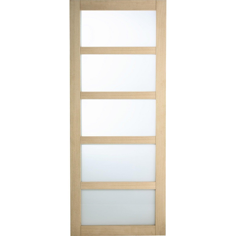 Porte coulissante paris artens vitr e 204 x 83 cm - Porte coulissante vitree leroy merlin ...