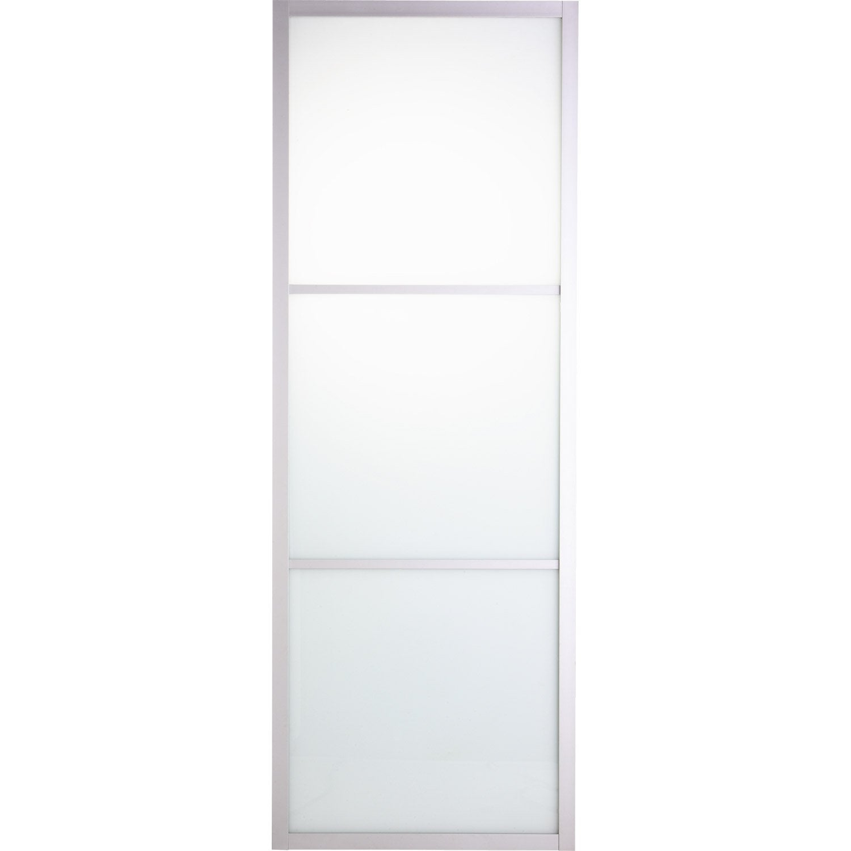 Porte coulissante aluminium aspen blanc blanc n 0 artens for Porte 83 204