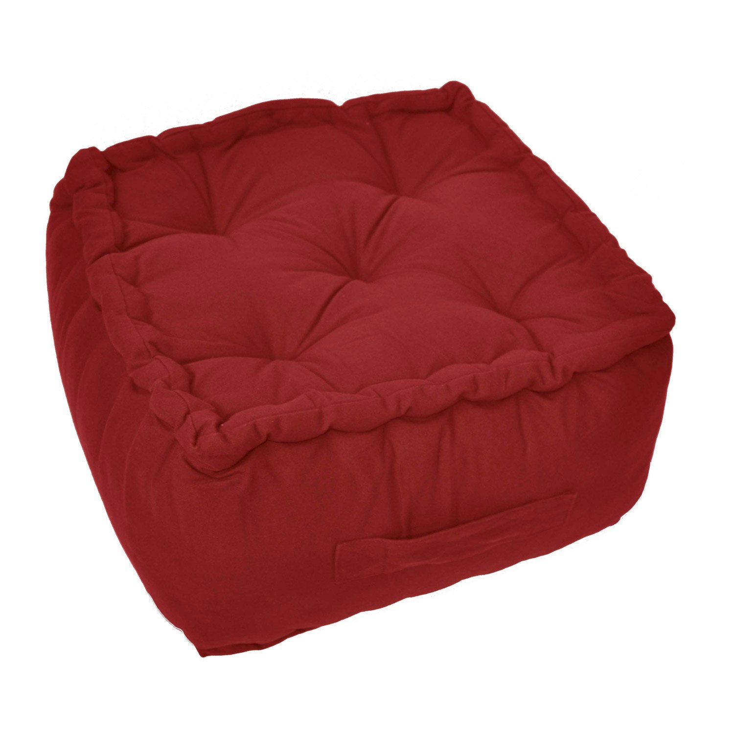 pouf bachette rouge rouge n 3 40 x 40 cm leroy merlin. Black Bedroom Furniture Sets. Home Design Ideas