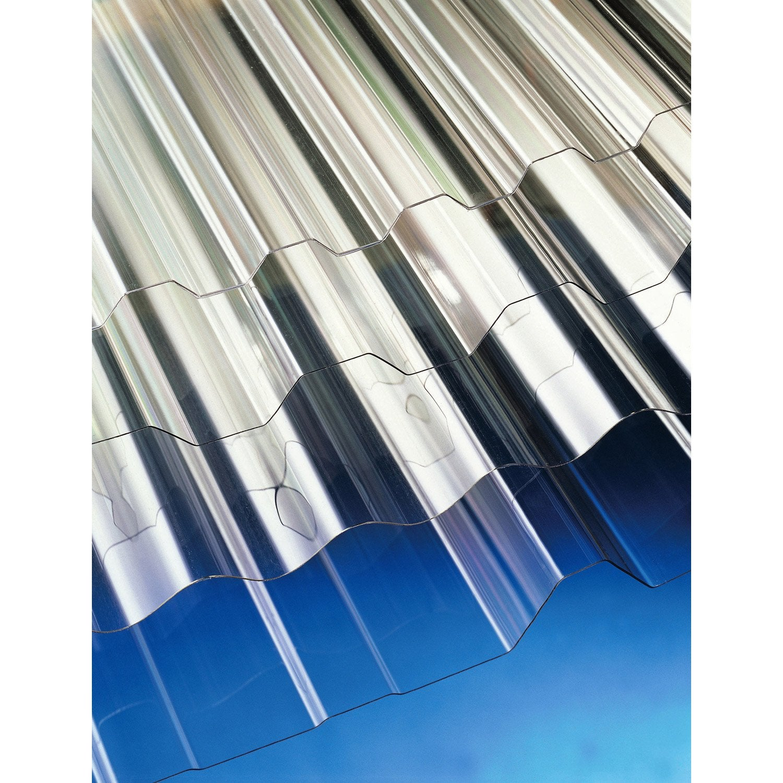 Plaque polycarbonate pour plaque acier 63e 2 x m leroy merlin - Leroy merlin polycarbonate ...