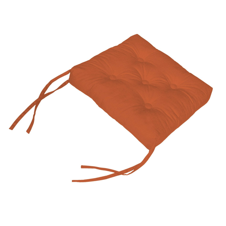 galette de chaise cl a inspire orange orange n 3 x x h 5 cm leroy merlin. Black Bedroom Furniture Sets. Home Design Ideas