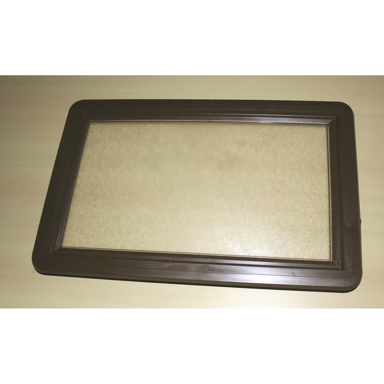 hublot rectangle marron pour porte de garage coulissante leroy merlin. Black Bedroom Furniture Sets. Home Design Ideas