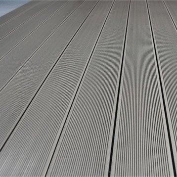 Planche primo en composite gris l 300 x l 14 5 cm x ep 21 mm leroy merlin - Pose lame composite leroy merlin ...