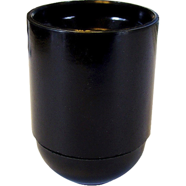 douille lisse e27 tibelec plastique noir 60 w leroy merlin. Black Bedroom Furniture Sets. Home Design Ideas