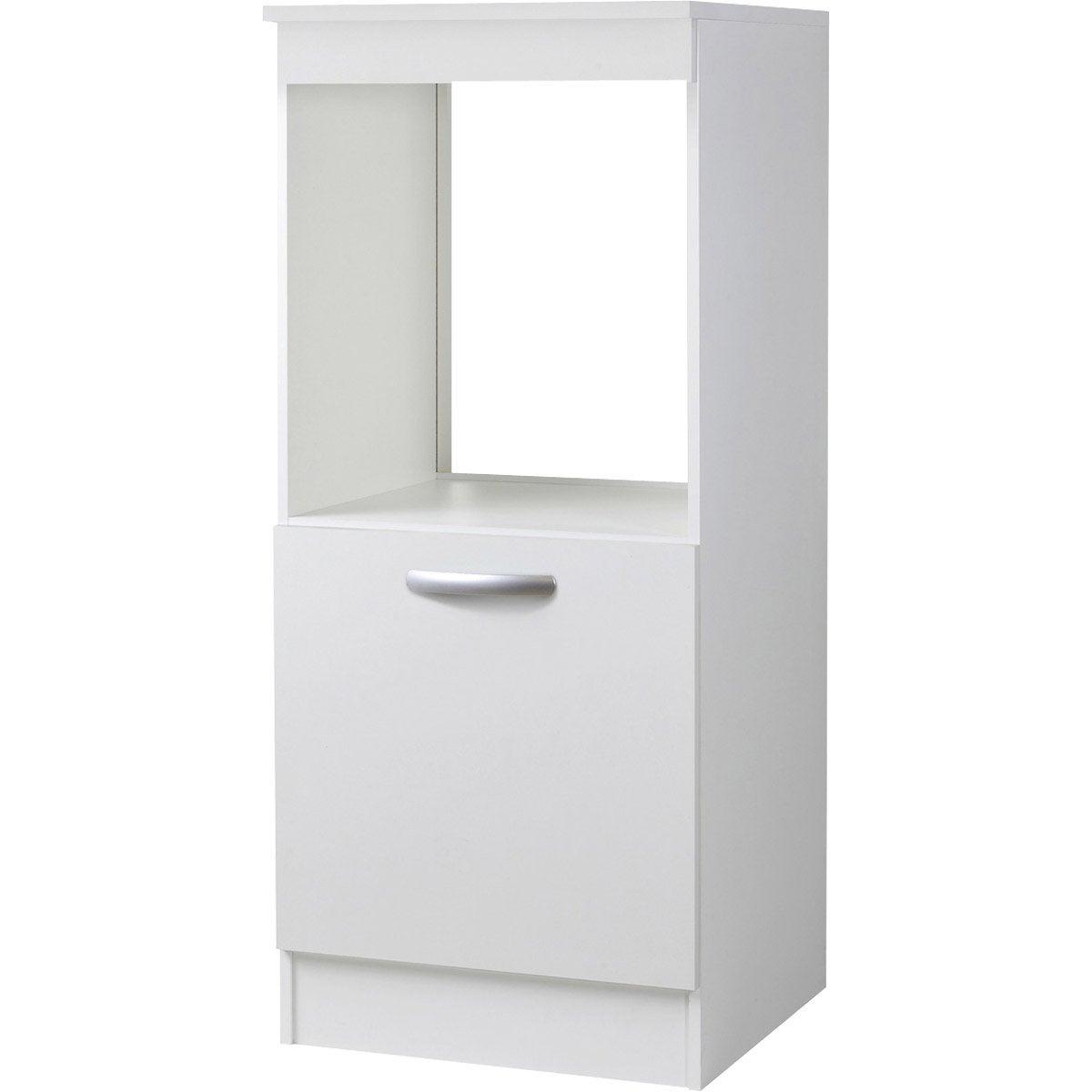 Meuble de cuisine 1 2 colonne 1 porte blanc l60x - Porte meuble cuisine leroy merlin ...