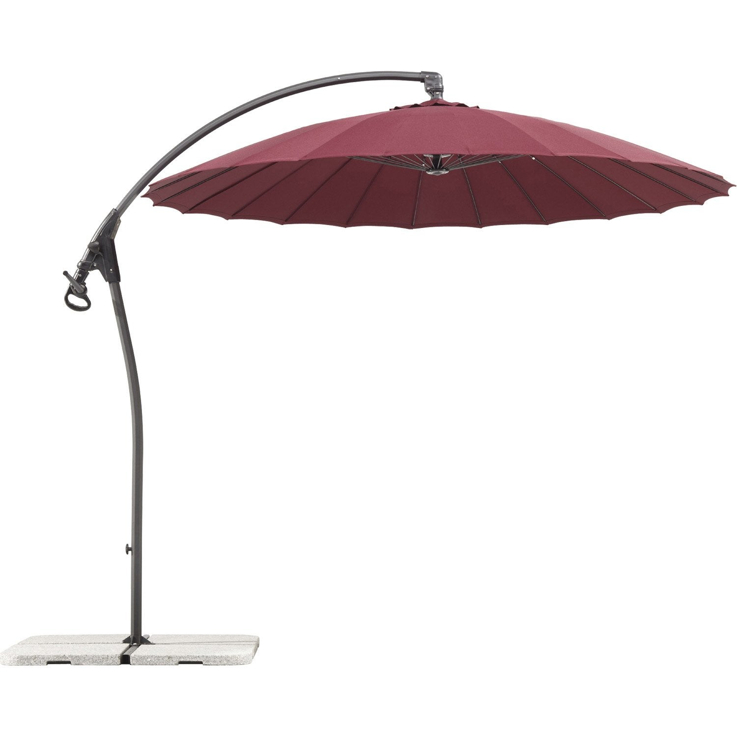parasol excentr lotus schneider rouge m leroy. Black Bedroom Furniture Sets. Home Design Ideas