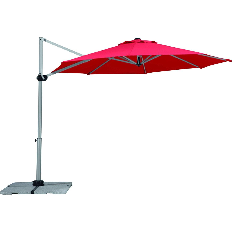 Parasol excentr samos rouge octogonal x cm leroy merlin - Rode leroy merlin parasol ...