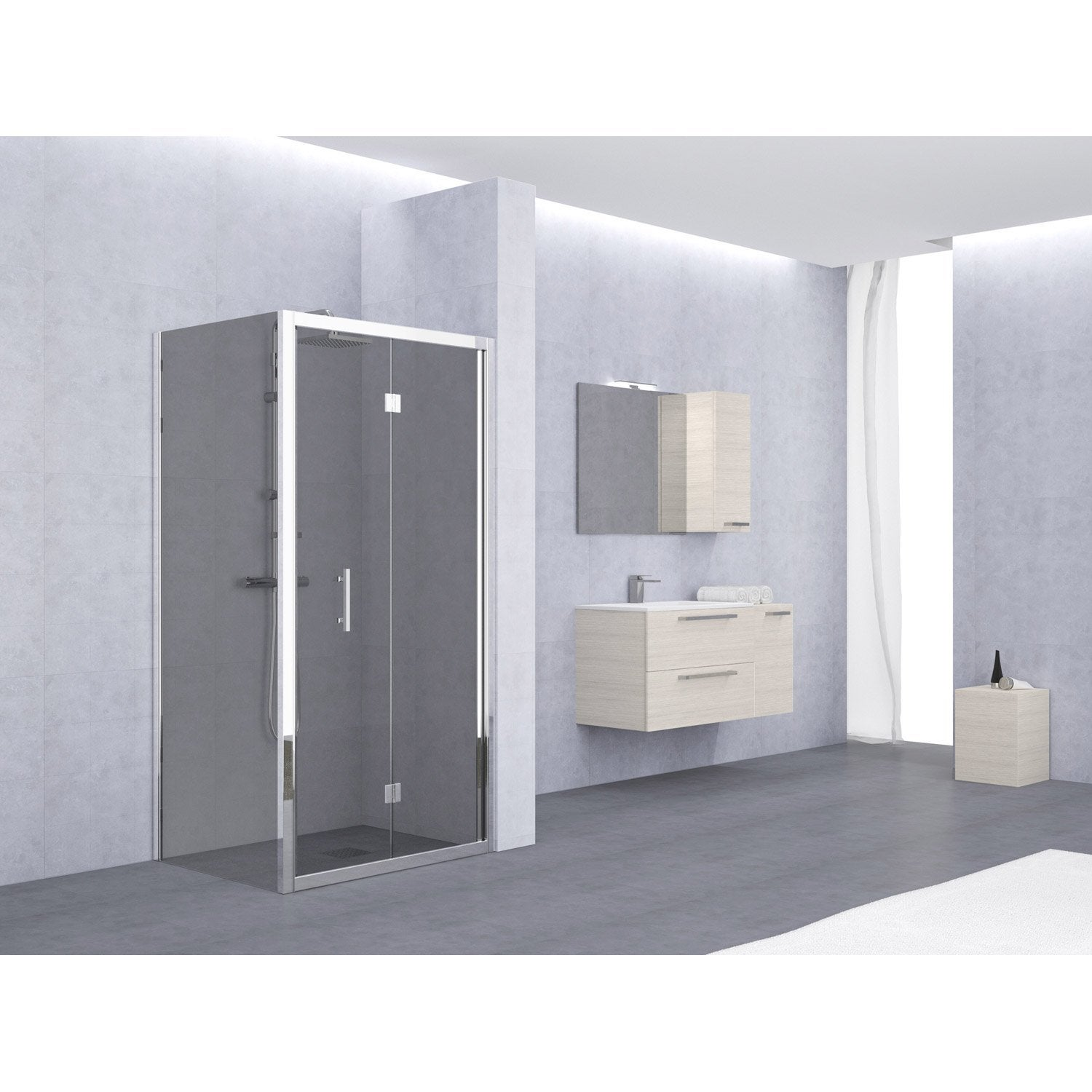 porte de douche pliante elyt leroy merlin. Black Bedroom Furniture Sets. Home Design Ideas