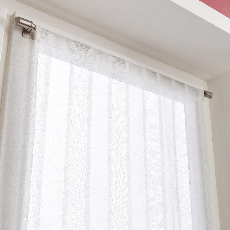 paire de vitrages tamisant petite hauteur lola ivoire x cm leroy merlin. Black Bedroom Furniture Sets. Home Design Ideas