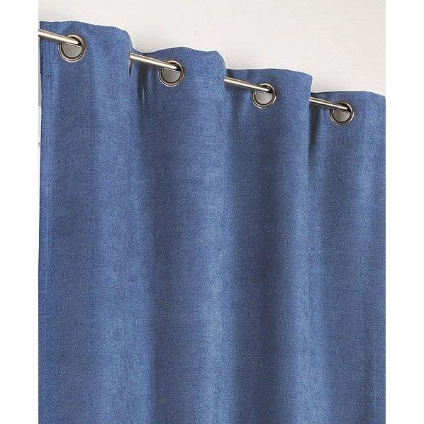 rideau occultant thermique alaska recto bleu p trole. Black Bedroom Furniture Sets. Home Design Ideas