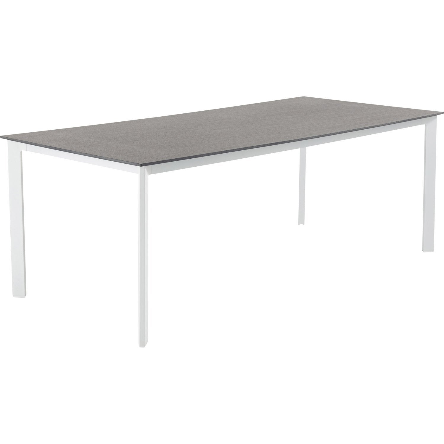 Table de jardin naterial marbella rectangulaire gris 8 personnes leroy merlin - Leroy merlin table jardin ...