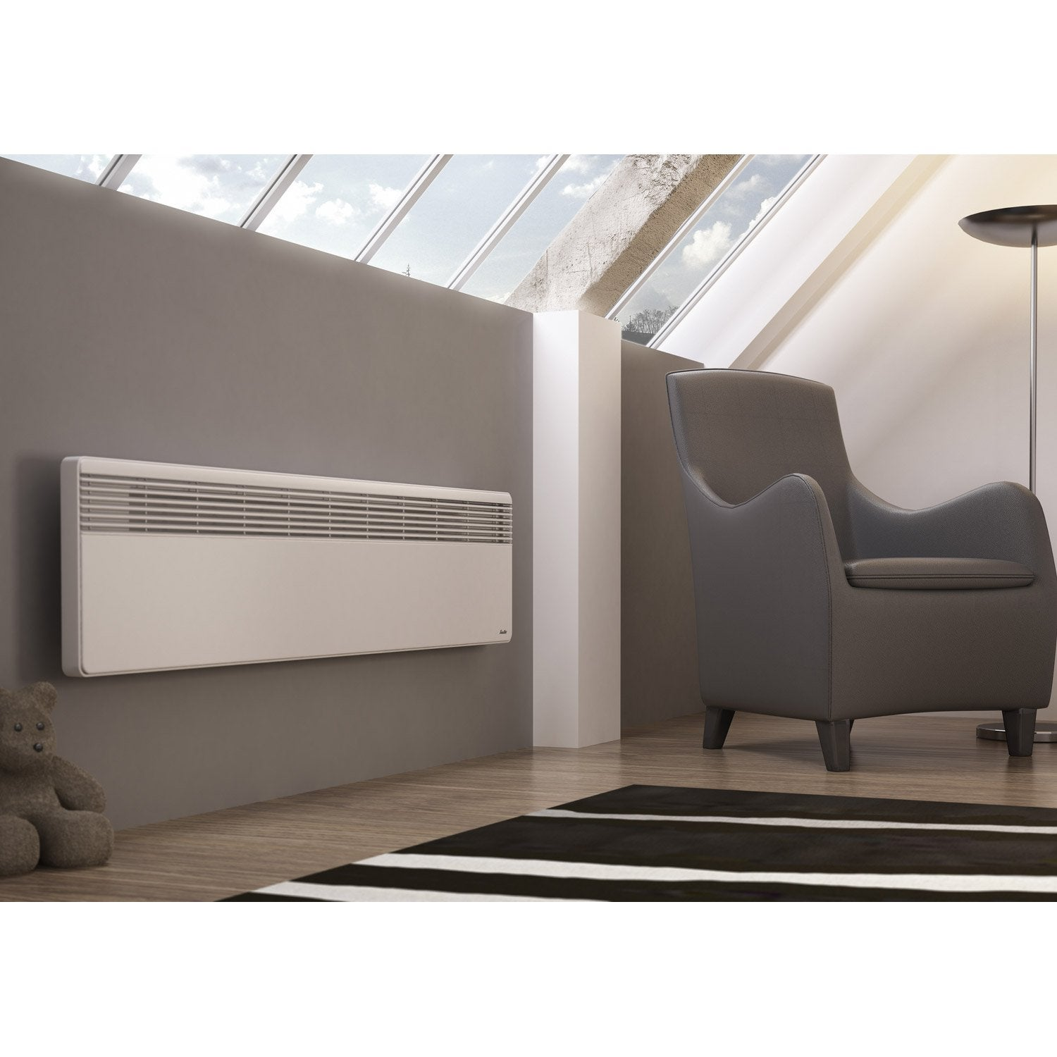 radiateur lectrique convection sauter lucki plinthe 1000 w leroy merlin. Black Bedroom Furniture Sets. Home Design Ideas