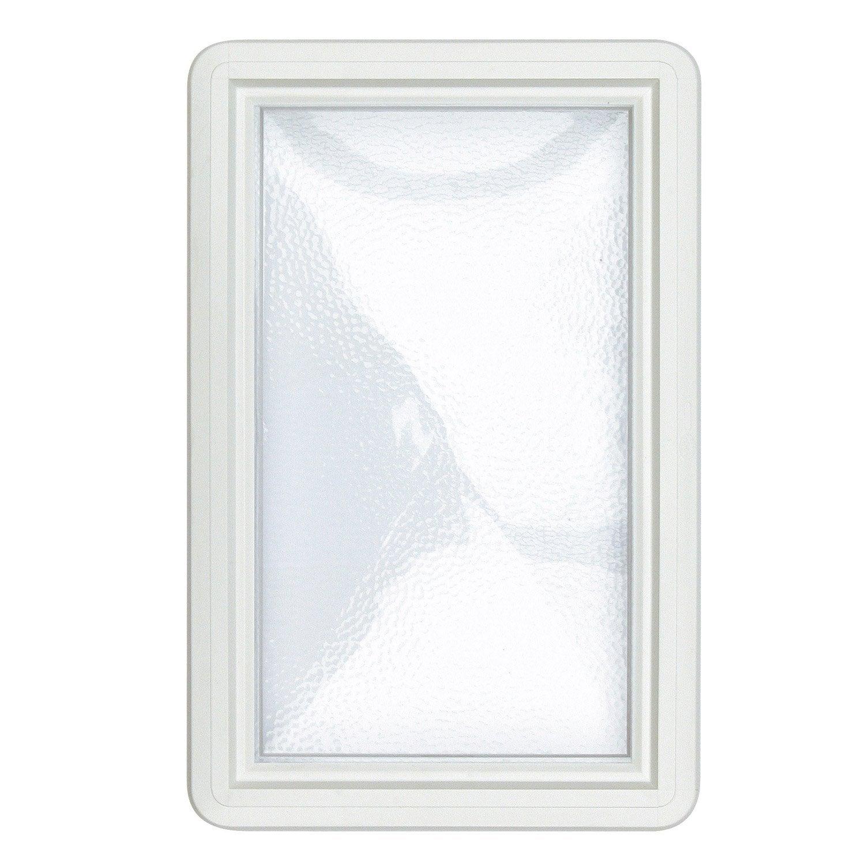 hublot rectangle blanc cm pour porte de garage coulissante leroy merlin. Black Bedroom Furniture Sets. Home Design Ideas