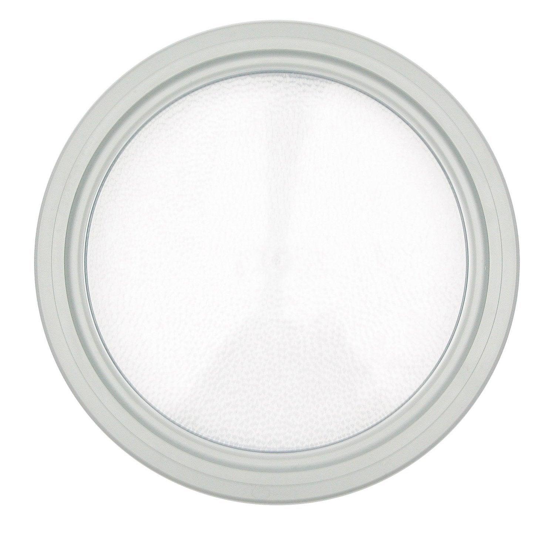 hublot rond blanc diam tre 31 cm pour porte de garage coulissante leroy merlin. Black Bedroom Furniture Sets. Home Design Ideas