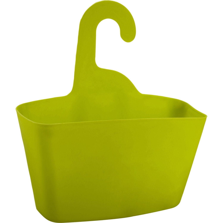 Panier de bain / douche play à suspendre au combiné, jaune anis n ...