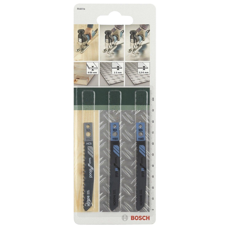 Lot de 3 lames coupe universelle BOSCH pour bois et métal  ~ Leroy Merlin Coupe Bois
