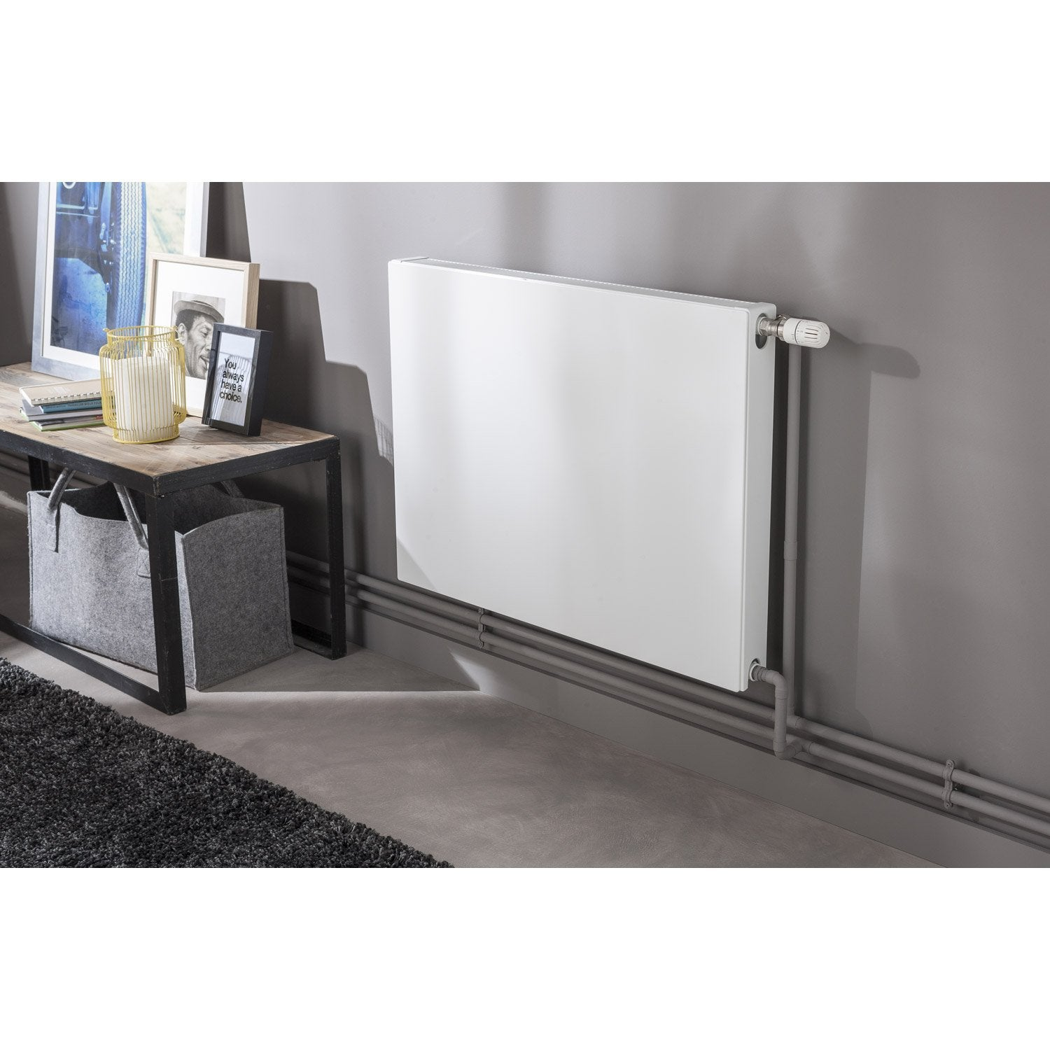 radiateur chauffage central colima blanc cm 954 w leroy merlin. Black Bedroom Furniture Sets. Home Design Ideas