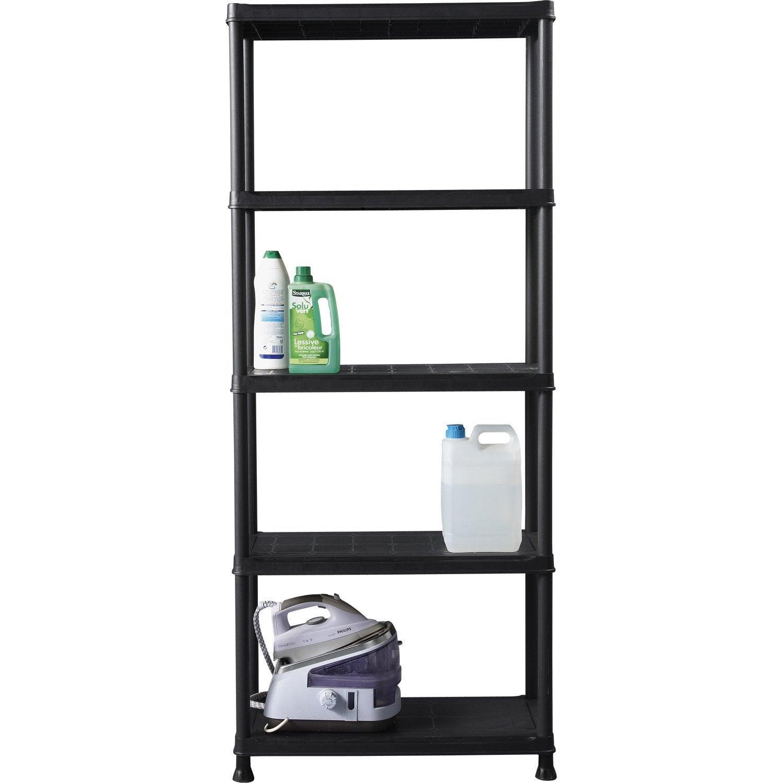 etag re r sine kis 5 tablettes noir cm leroy merlin. Black Bedroom Furniture Sets. Home Design Ideas