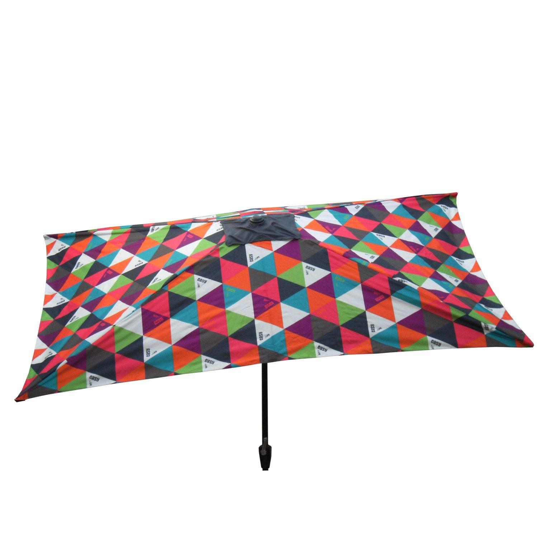 parasol droit polygone multicolore rectangulaire x. Black Bedroom Furniture Sets. Home Design Ideas