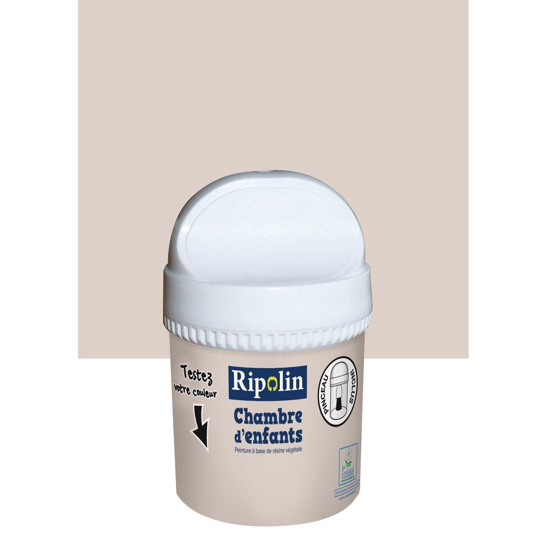 Testeur peinture beige cr me ripolin chambre d 39 enfants 0 for Peinture cuisine gris souris