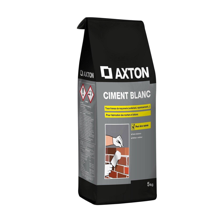 Ciment poudre blanc axton 5 kg leroy merlin - Peinture pour toiture fibro ciment brico depot ...
