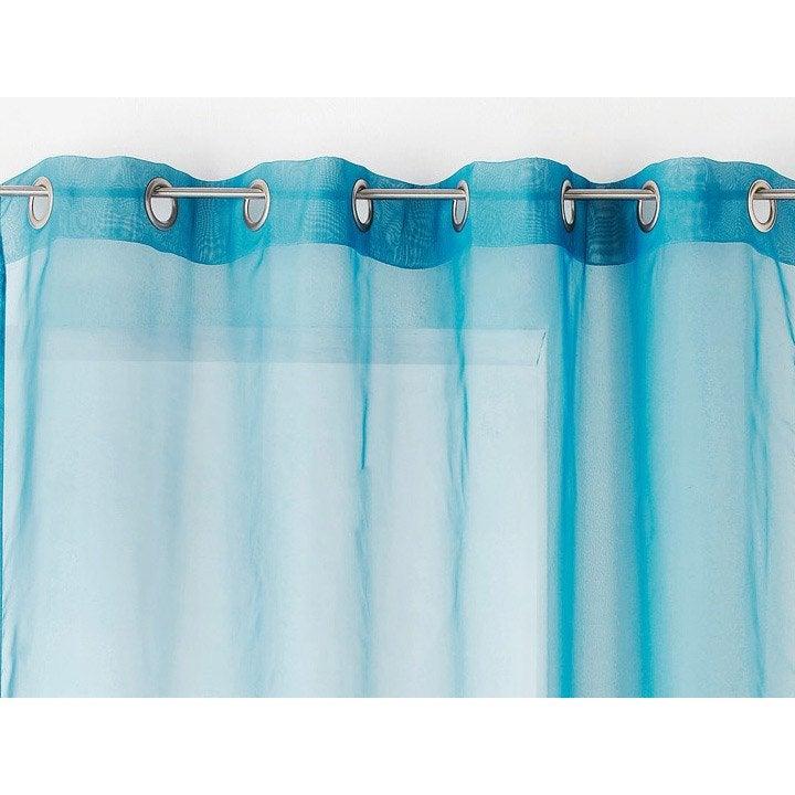 voilage tamisant plein jour bleu ciel x cm leroy merlin. Black Bedroom Furniture Sets. Home Design Ideas