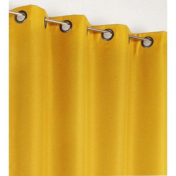 rideau occultant calypso jaune x cm leroy merlin. Black Bedroom Furniture Sets. Home Design Ideas