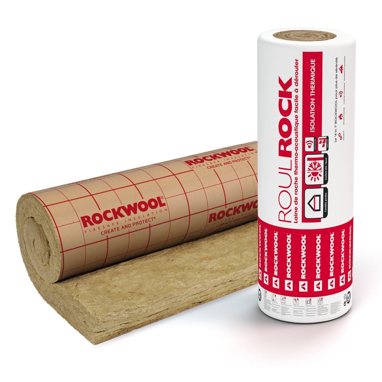 laine de roche roulrock kraft perfor rockwool 5 x 1 2 m. Black Bedroom Furniture Sets. Home Design Ideas