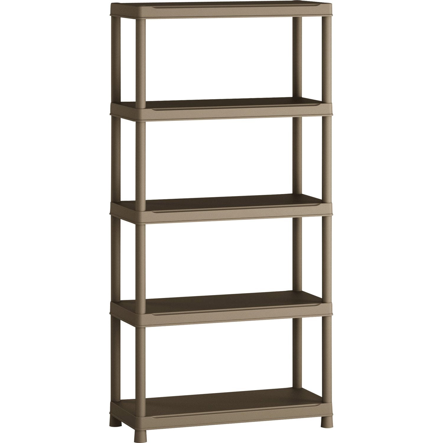 Etag re r sine spaceo 5 tablettes terre l90xh181xp40 cm leroy merlin - Leroy merlin etagere metal ...