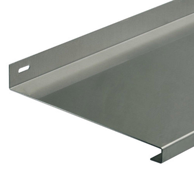tablette en aluminium brut long 800 x larg 230 mm leroy merlin. Black Bedroom Furniture Sets. Home Design Ideas