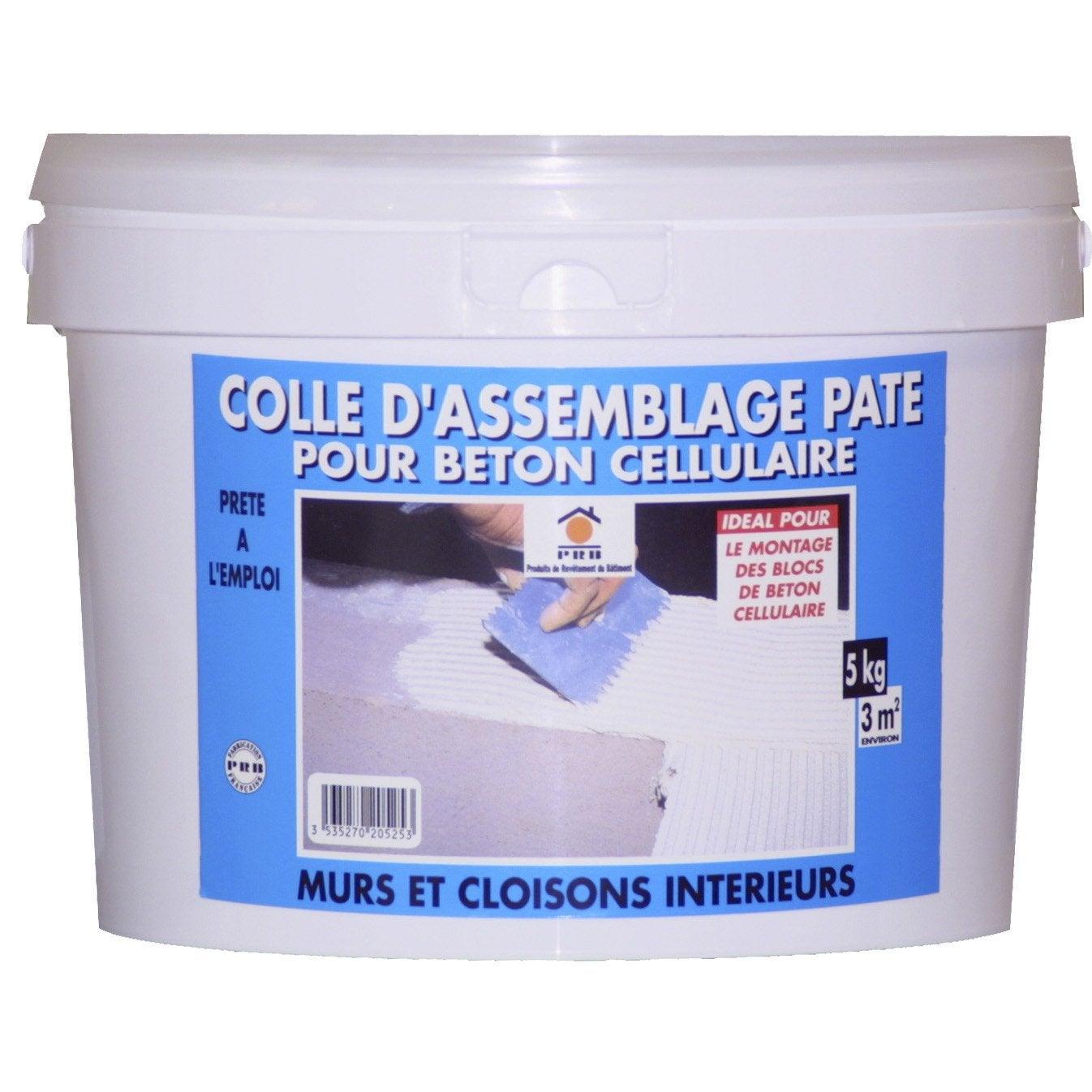 Colle pour b ton cellulaire prb 5 kg leroy merlin for Colle dalle beton exterieur