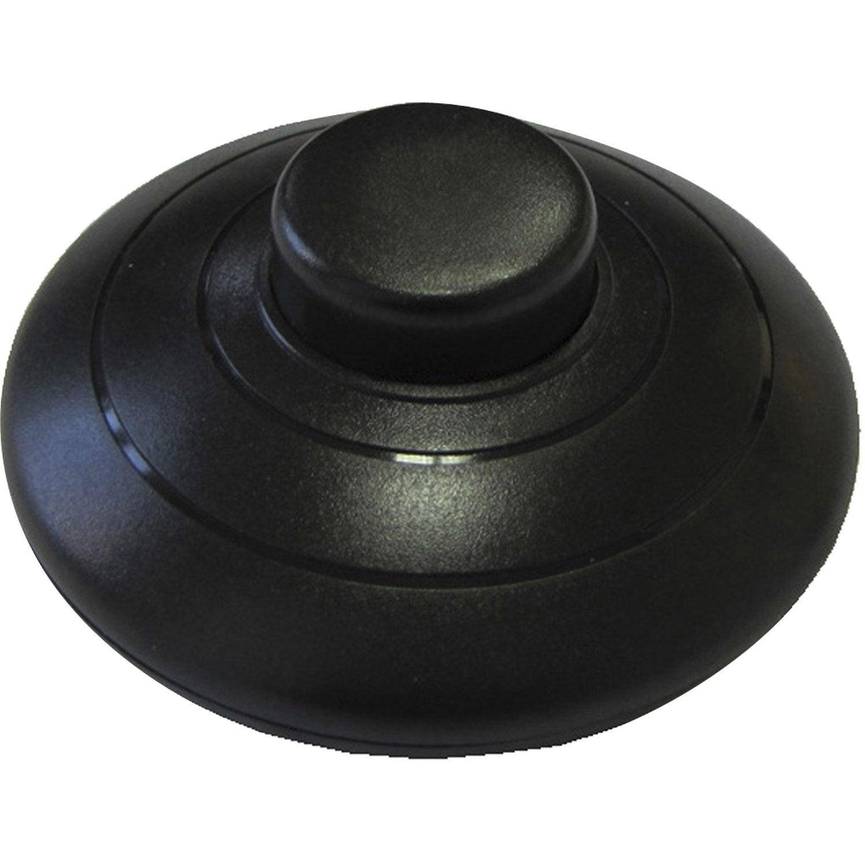 Interrupteur pied tibelec plastique noir leroy merlin - Leroy merlin pied meuble ...