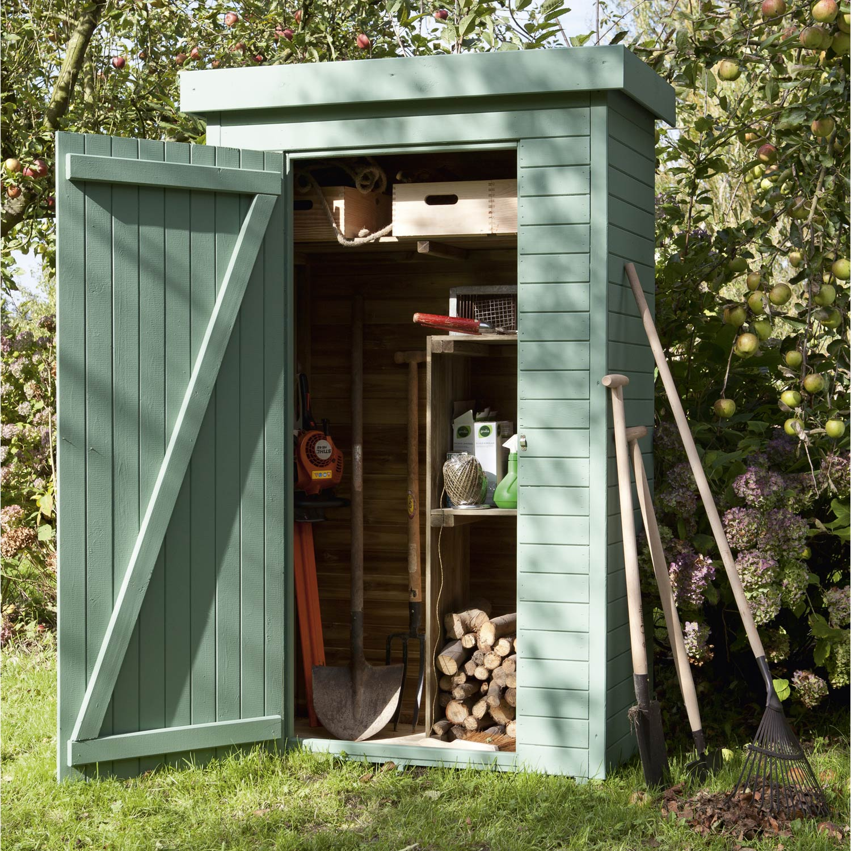 Armoire de jardin bois helka naturelle x x p for Leroy merlin terrasse et jardin
