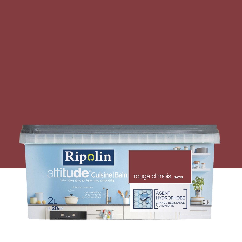 Peinture attitude cuisine et bains ripolin rouge chinois - Peinture pour stratifie leroy merlin ...