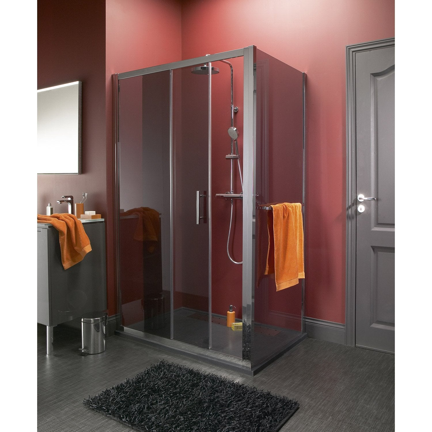 attractive receveur a carreler brico depot porte de douche with receveur douche brico depot with. Black Bedroom Furniture Sets. Home Design Ideas