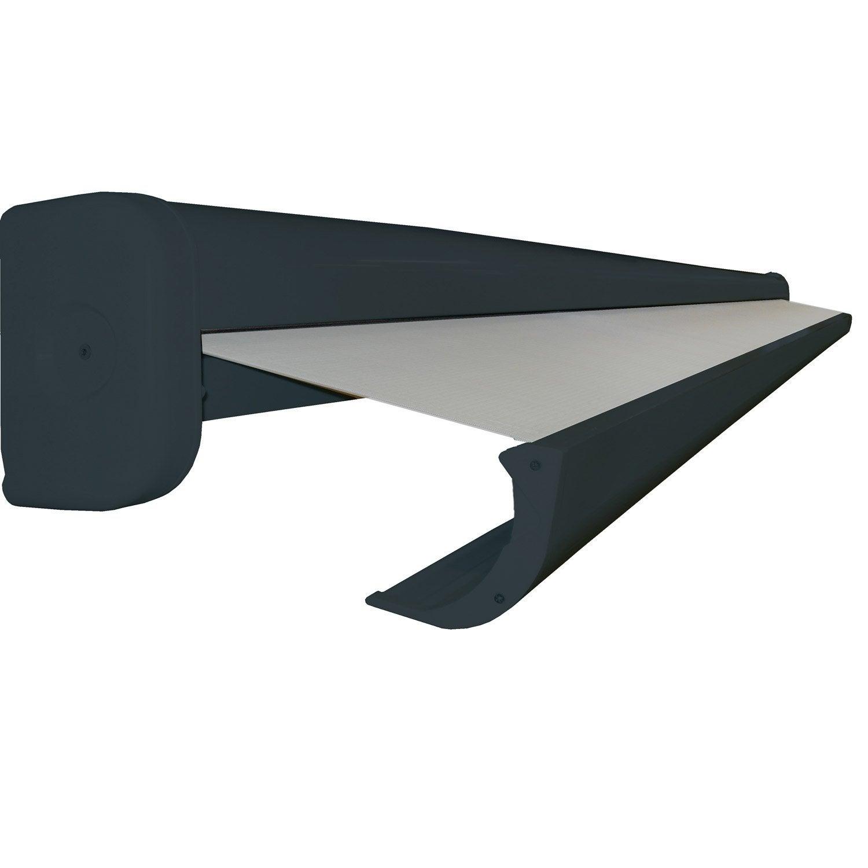 store banne manuel rio coffre int gral 4 x 3 m t122 uni gris galet n 3 gris ga leroy merlin. Black Bedroom Furniture Sets. Home Design Ideas