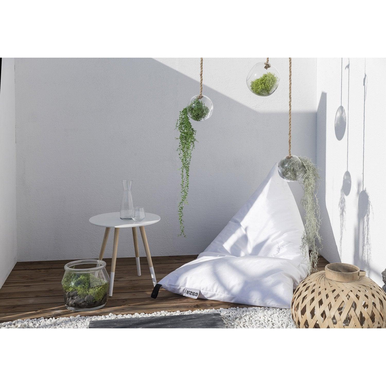 pouf de jardin en tissu berlingot blanc leroy merlin. Black Bedroom Furniture Sets. Home Design Ideas