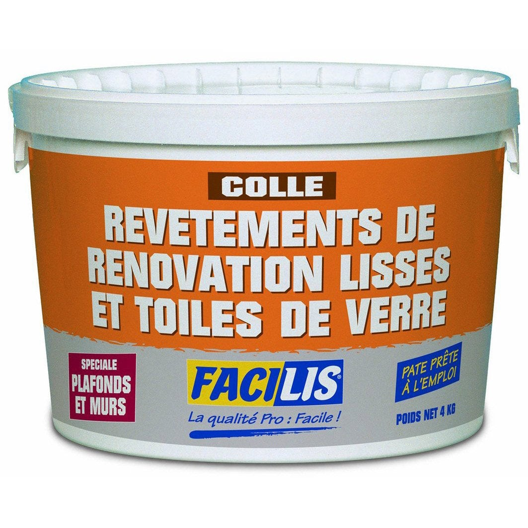 Colle pour rev tement mural 4 kg leroy merlin for Leroy merlin revetement mural