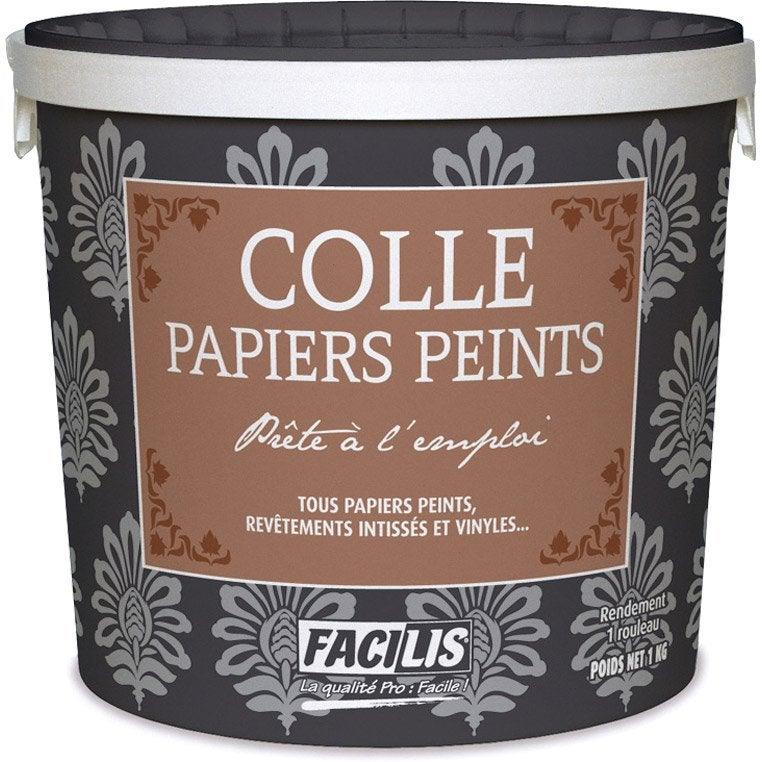 Colle universelle pous papiers peints 1 kg leroy merlin for Colle a papier peint prix