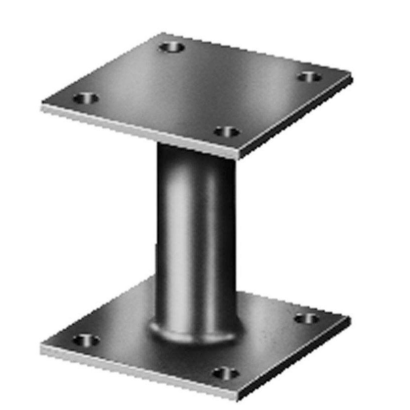 support de poteau galvanis gah alberts 90x70x70x90x78 mm. Black Bedroom Furniture Sets. Home Design Ideas