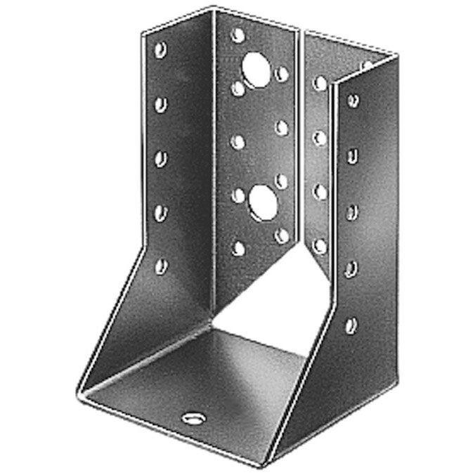 Support de poteau forme u galvanis gah alberts 64x128 mm - Support poteau leroy merlin ...