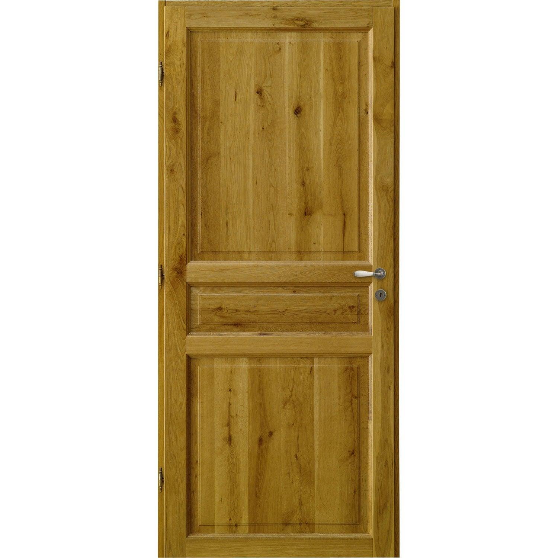 Bloc porte ch ne brive x cm leroy merlin for Interieur en bois
