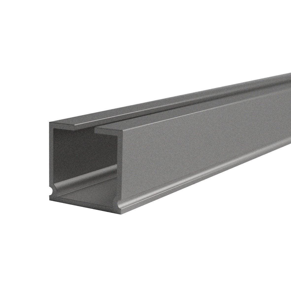 rail aluminium universel aluminium mat cm ouverture lat rale ou centrale leroy merlin. Black Bedroom Furniture Sets. Home Design Ideas
