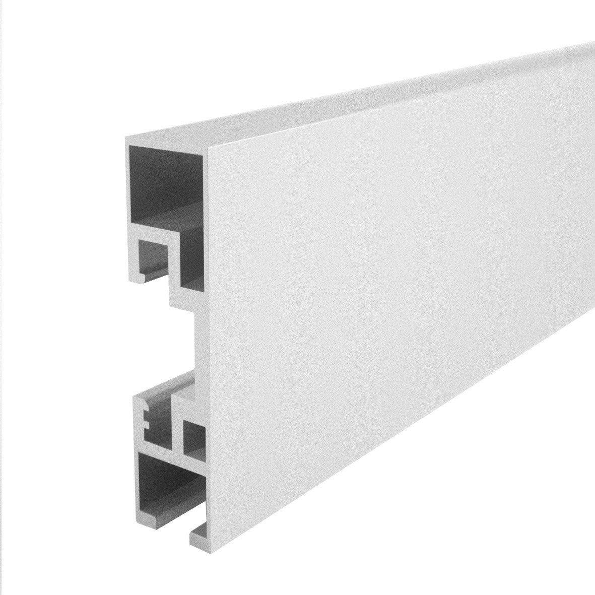 rail en aluminium blanc laqu long 200 cm ouverture au. Black Bedroom Furniture Sets. Home Design Ideas