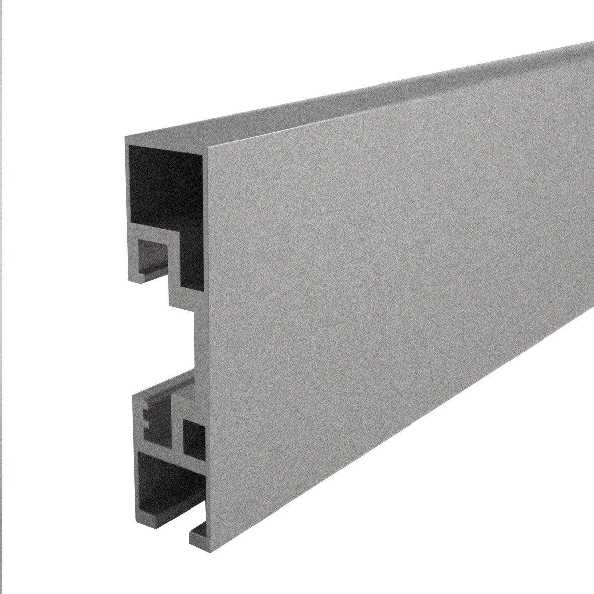 rail en aluminium mat long 200 cm ouverture au choix. Black Bedroom Furniture Sets. Home Design Ideas