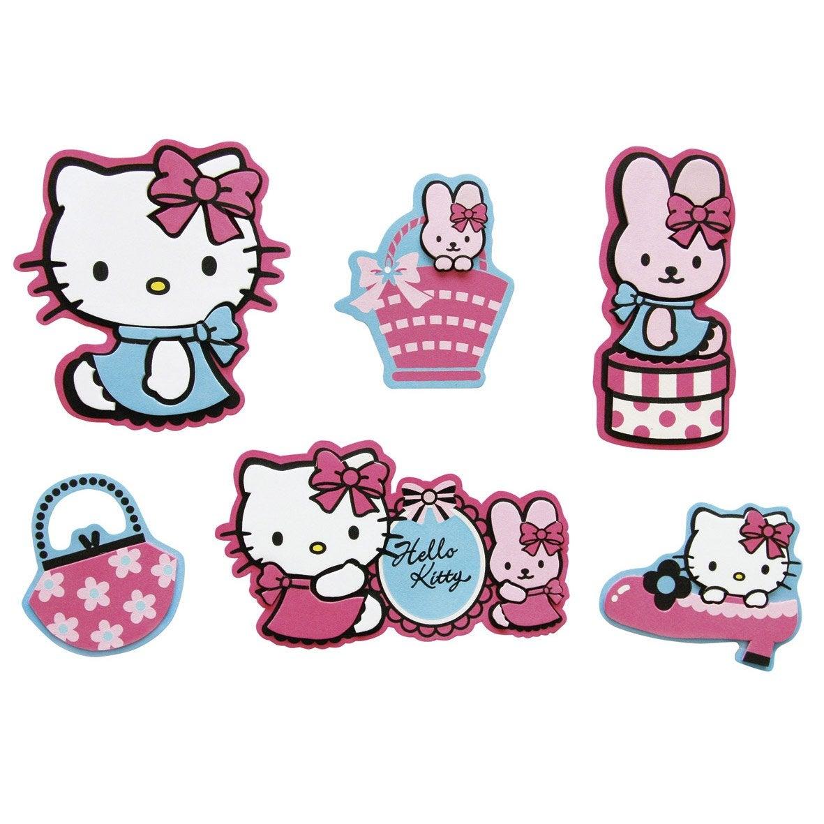 sticker en relief hello kitty 12 cm x 12 cm leroy merlin. Black Bedroom Furniture Sets. Home Design Ideas