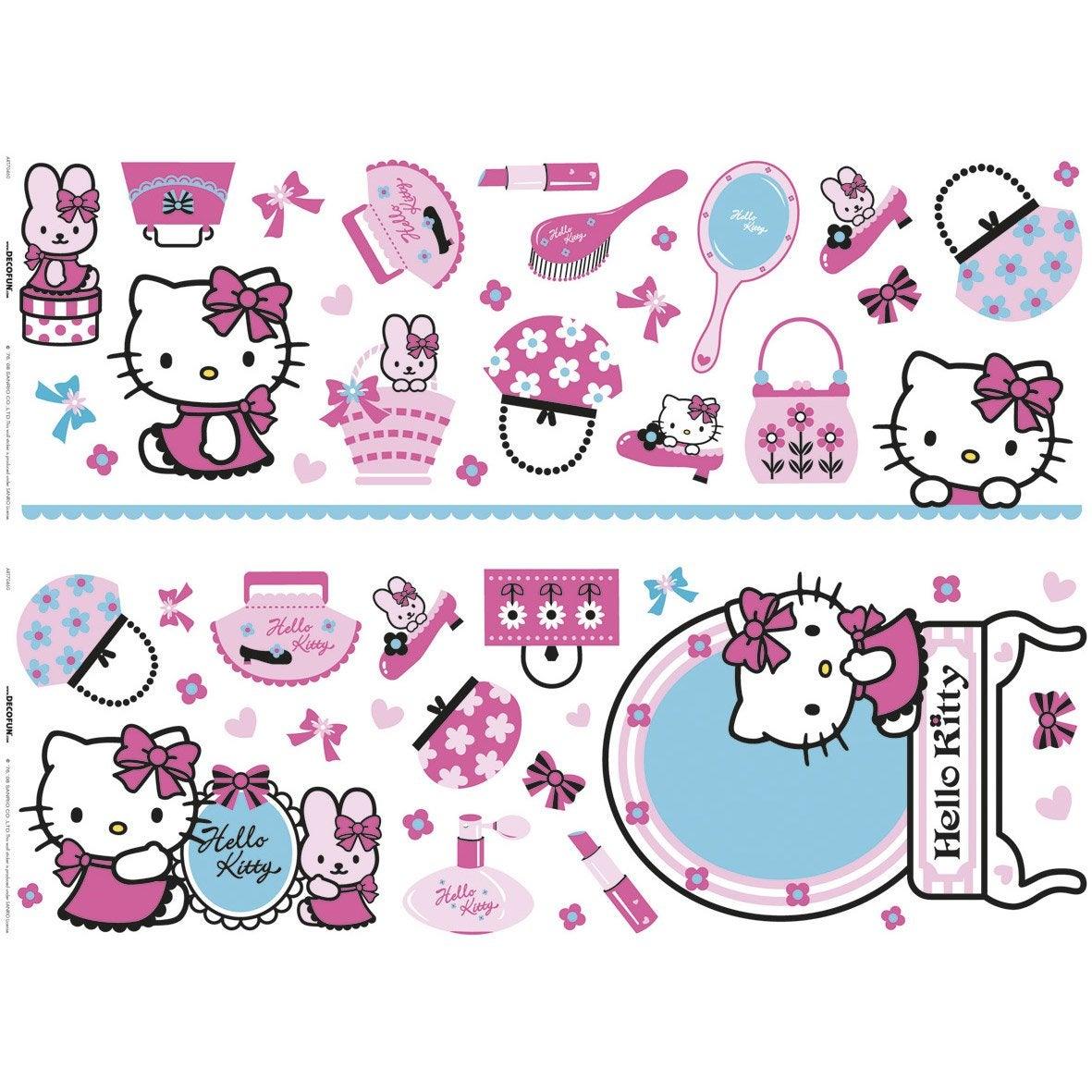 sticker hello kitty 25 cm x 70 cm leroy merlin. Black Bedroom Furniture Sets. Home Design Ideas