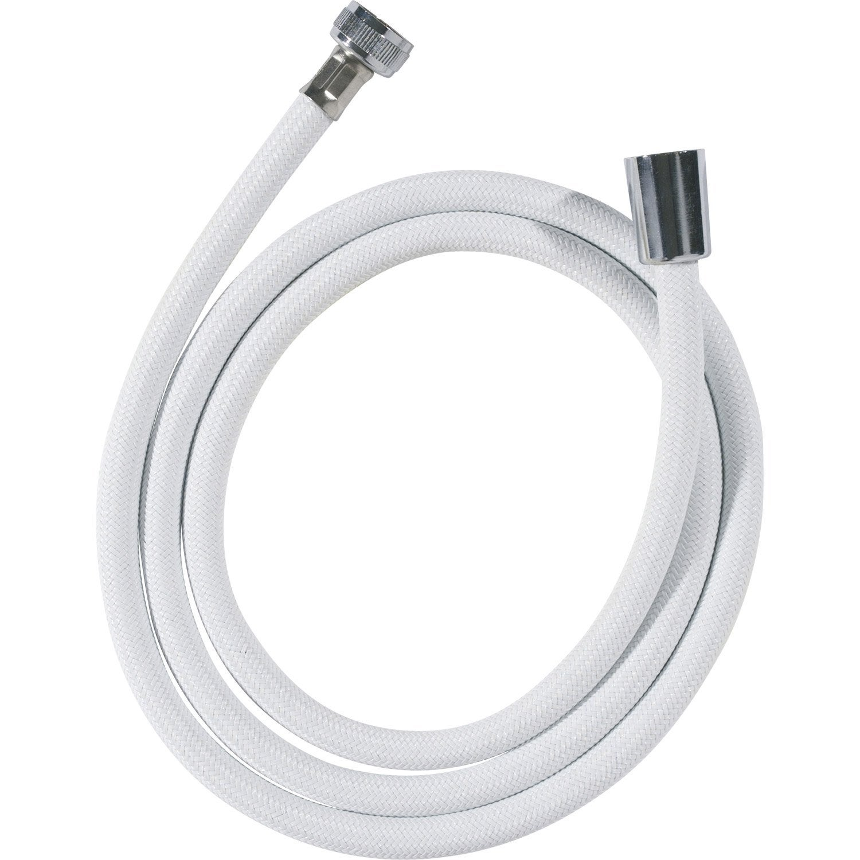 Flexible de douche nylon 150cm blanc leroy merlin - Leroy merlin flexible douche ...