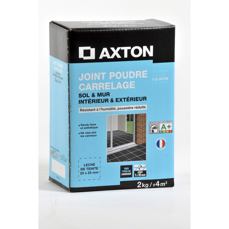 Joint poudre tout type de carrelage et mosa que axton gris 2 kg leroy merlin - Joint acrylique leroy merlin ...